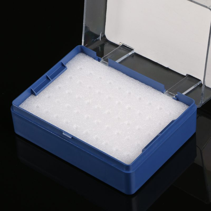 Plastic Storage Box With Foam Milling Cutter Organizer For 50 PCB Drill Bits D08F
