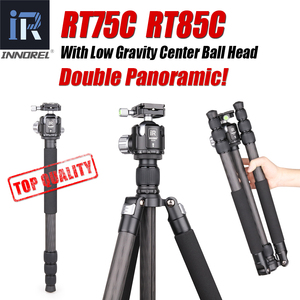 Image 1 - INNOREL RT75C/85C Professional Carbon Fiber Tripod Monopod add 360 Panoramic Low Gravity Center Ballhead For Digital Dslr Camera