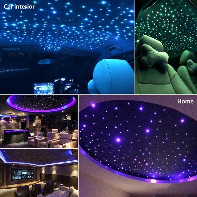 16W 12V światłowód LED zestaw do wyświetlania gwiezdnego sufitu RGBW światło na dach samochodowy Home Decoration światło pilot 150 sztuk kabel światłowodowy
