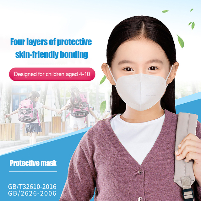 7PCS/Lot KN95 Child Masks 4 layer Filter PM2.5 Anti-Dust Prevent infection Flu Baby Children Mouth Face Mask Breathe Safely