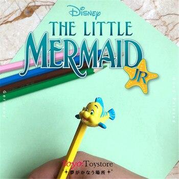 24 stück 2,5 cm Die Kleine Meerjungfrau flunder Cartoon figuren modell ornamente flunder sammlung spielzeug