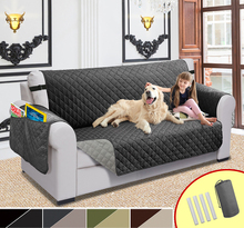 Reversible Sofa Couch Cover Quilted Sofa Covers For Living Room Kids Pet Dogs Recliner Chair Cover Slipcovers Two Side Using Mat