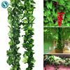 21 Style 1pc high quality Artificial plant Rattan ivy Creeper leaf Vivid Vine home Wedding wall decor garden festival decoration 1