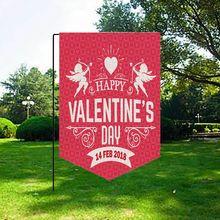 1 шт. декоративное сердце трио Любовь Красный Розовый День Святого Валентина сад флаг огненное сердце узор сад флаг