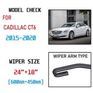 Image 2 - Cadillac için CT6 2015 2016 2017 2018 2019 2020 aksesuarları araba ön cam silecek lastikleri fırçalar kesici U tipi J kanca