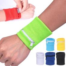 Zipper Wrist Wallet Pouch Running Sports Arm Band Bag For MP3 Key Card Storage Bag Case Badminton Basketball Wristband Sweatband