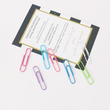 TUTU 80 sztuk zestaw 50mm papier kolorowy klipy spinacze do papieru notatki sklasyfikowane klipy szkolne materiały papiernicze szkolne materiały biurowe H0324 tanie i dobre opinie NoEnName_Null Metal paper clip