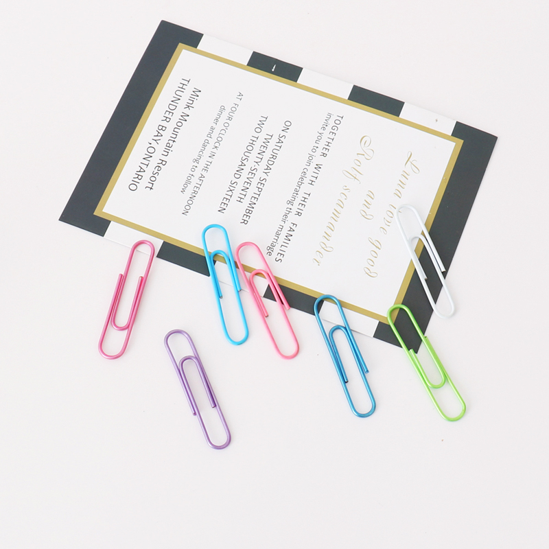 TUTU 80pcs/set Of 50mm Colorful Paper Clips Paper Clips Notes Classified Clips  Student Stationery School Office Supplies H0324