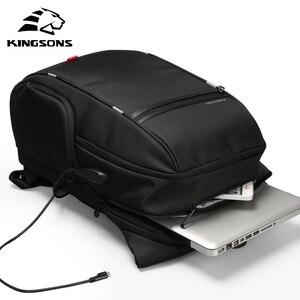 Image 1 - Kingsons KS3140 mężczyźni kobiety plecak na laptopa biznes wypoczynek plecak szkolny plecak z ładowaniem USB wielofunkcyjny wodoodporny