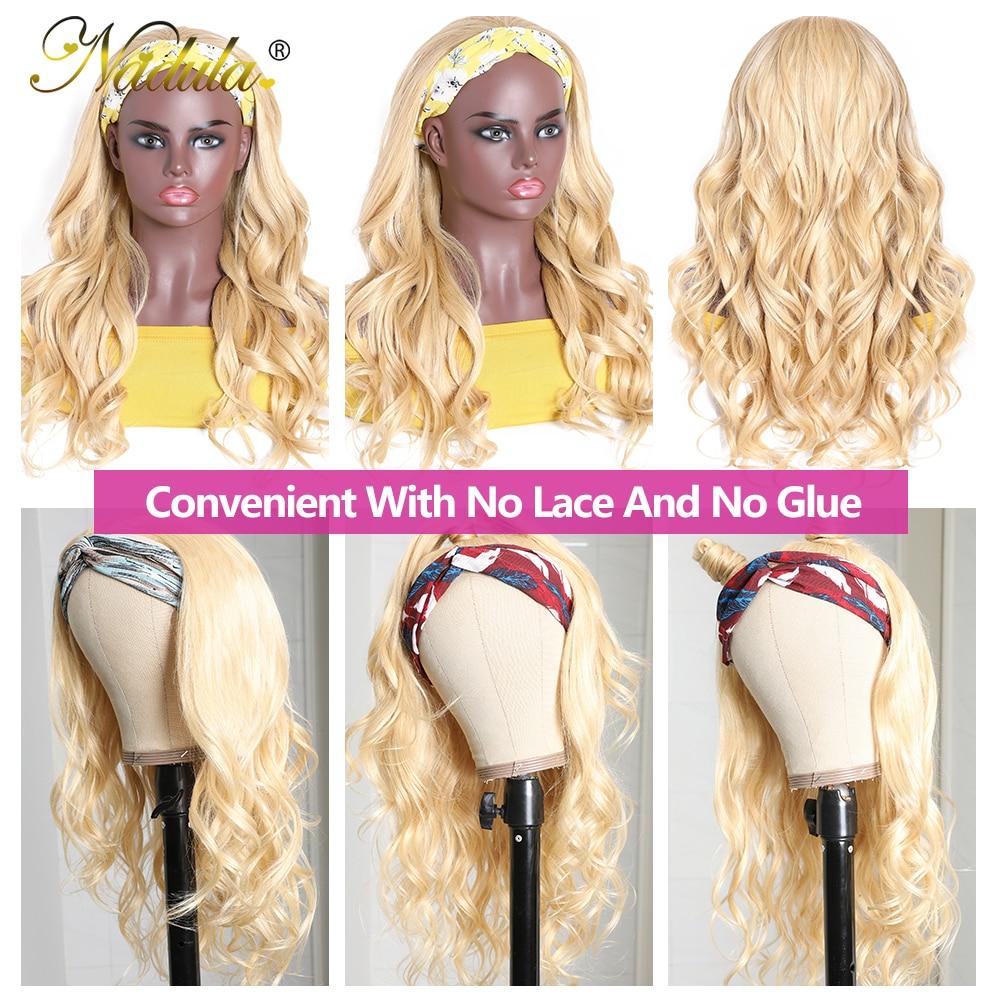 Nadula Headband Wig  Body Wave Honey Blonde  Headband Wig  Natural Wave Pre Plucked  3