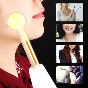 Image 5 - 고주파 얼굴 기계 전극 유리 튜브 Electrotherapy 여드름 항 염증성 피부 강화 주름 스파 살롱 홈