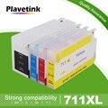 Пустые чернильные картриджи Plavetink 711XL, Заправляемый картридж для принтера HP 711, для принтера DesignJet T120 T520