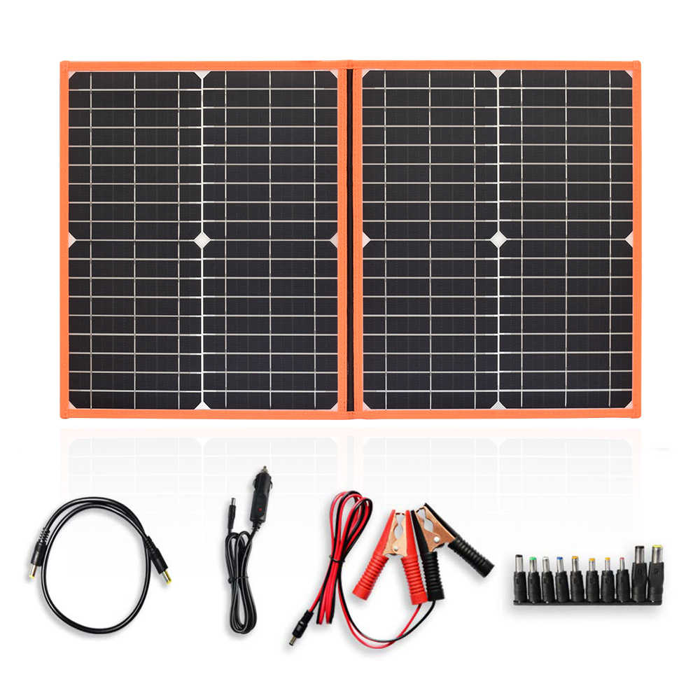 Xinpuguang 40w 60W 80w foldable charger solar panel 5V USB and 18V DC Output Portable Power Bank Sonnenkollektor, less equipment