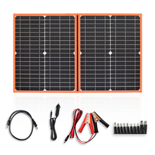 Xinpuguang 40w 60W 80w foldable charger solar panel 5V USB and 18V DC Output Portable Power Bank Sonnenkollektor, less equipment gbtiger 40w usb dc output solar panel foldable solar charger waterproof foldable emergency bag for laptop smartphone