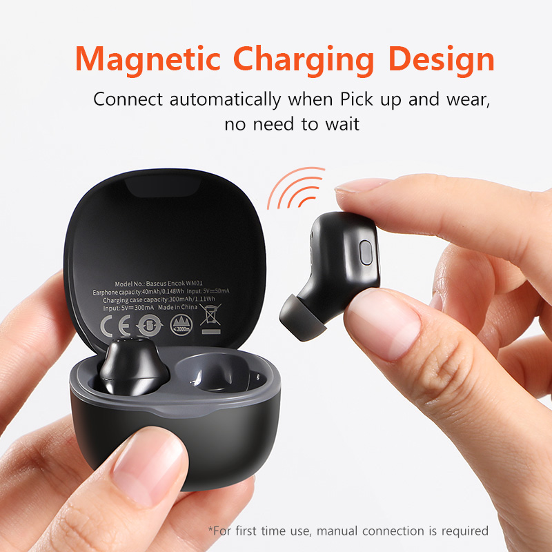 cheapest TOMKAS Bluetooth Headphones TWS Earbuds Wireless Bluetooth Earphones Stereo Headset Bluetooth Earphone With Mic and Charging Box