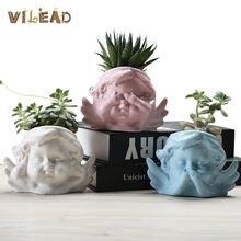 Vilead 12 видов стилей Керамический Ангел цветочный горшок не