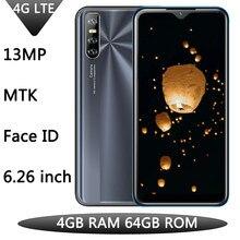 4g lte y9 4gb ram 64gb rom android face id quad core celular 13mp hd câmera desbloqueado 6.26 polegada água gota tela smartphones