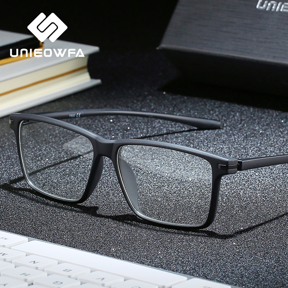 Gafas graduadas ópticas Anti luz azul para hombres + gafas fotocrómicas para hombres gafas bifocales progresivas para miopía hipermetropía TR90