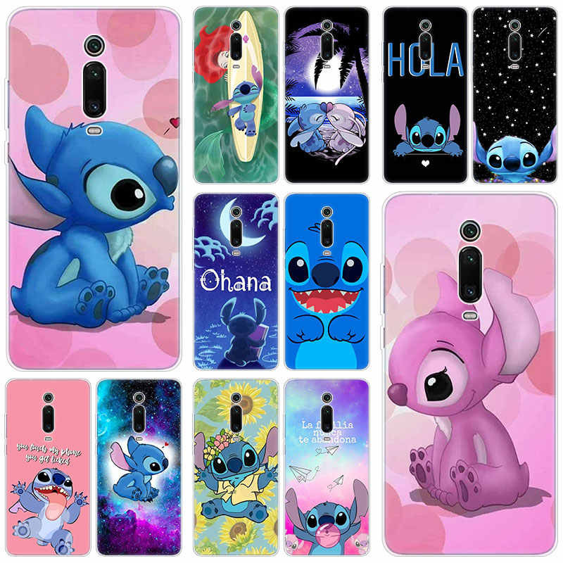 Cute cartoon stitch Silicone Case For Xiaomi Mi Note 10 9T CC9 E 9 Pro A3 Lite Play Redmi Note 8T 8 8A 6 Pro 6A 4X Fashion Cover