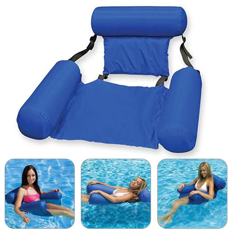 Summer Water Hammock Inflatable Belt Net Foldable Water Pleasure Lounge Chair Floating Bed Sleeping Cushion Water Accessories