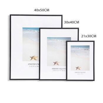 Modern Photo Frame A4 30X40CM Pictures Frames Metal Poster Plexiglass Black White Canvas Prints Kids Room Wall Art Home Decor