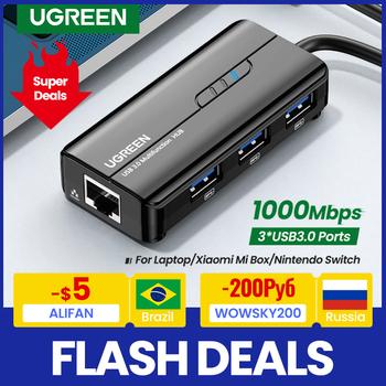 UGREEN USB Ethernet USB3 0 Lan 1000 mb s Ethernet Adapter USB RJ45 USB HUB do laptopa Xiaomi Mi Box S Ethernet HUB karta sieciowa tanie i dobre opinie 10 100 1000 mbps Rohs CN (pochodzenie) Zewnętrzny PRZEWODOWY 1000 m ethernet 802 11n 0 28m USB to Ethernet 1200 Mb s Gigabit Ethernet