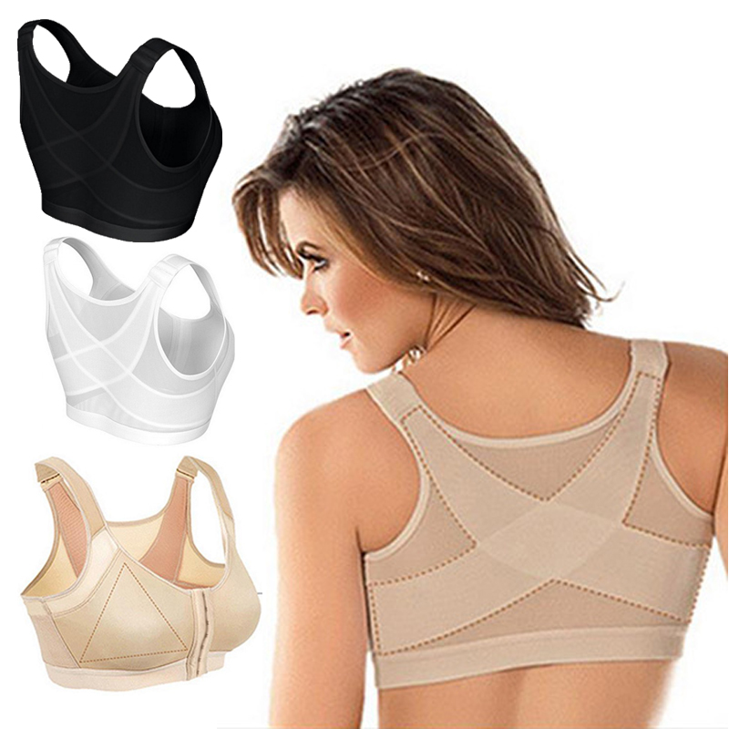 Posture Corrector Lift Up Bra Women Shockproof Support Fitness Vest Bras Cross Back Plus Size Breathable Underwear Corset Bra|Bras| - AliExpress