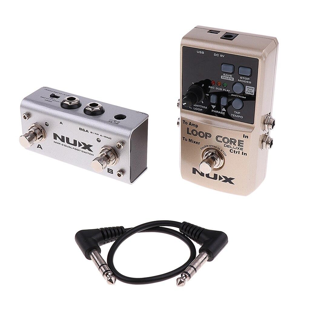 NUX Loop Core Deluxe pédale effet guitare 8 heures durée d'enregistrement 99 mémoires utilisateur modèles de batterie avec Tap Tempo