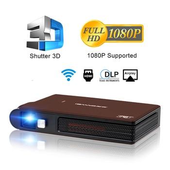 Caiwei-miniproyector de bolsillo S6W, DLP, 3D, LED, compatible con vídeo Full HD, WIFI, móvil, cine en casa