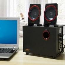 Drewniane głośniki komputerowe wysokiej jakości 2.1 na smartfony 3.5mm głośniki bas radiowy Hi Fi pudełka na laptopa głośniki USB na komputery stacjonarne