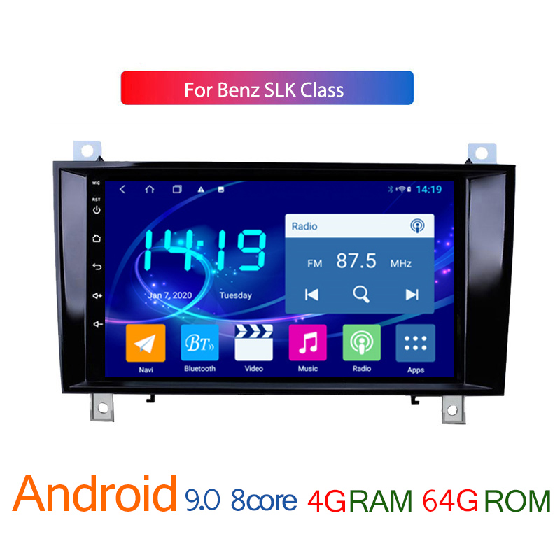 car multimedia player for benz slk class R171 SLK200 SLK280 SLK300 android 4G + 64G IPS radio coche auto audio stereo navigator image