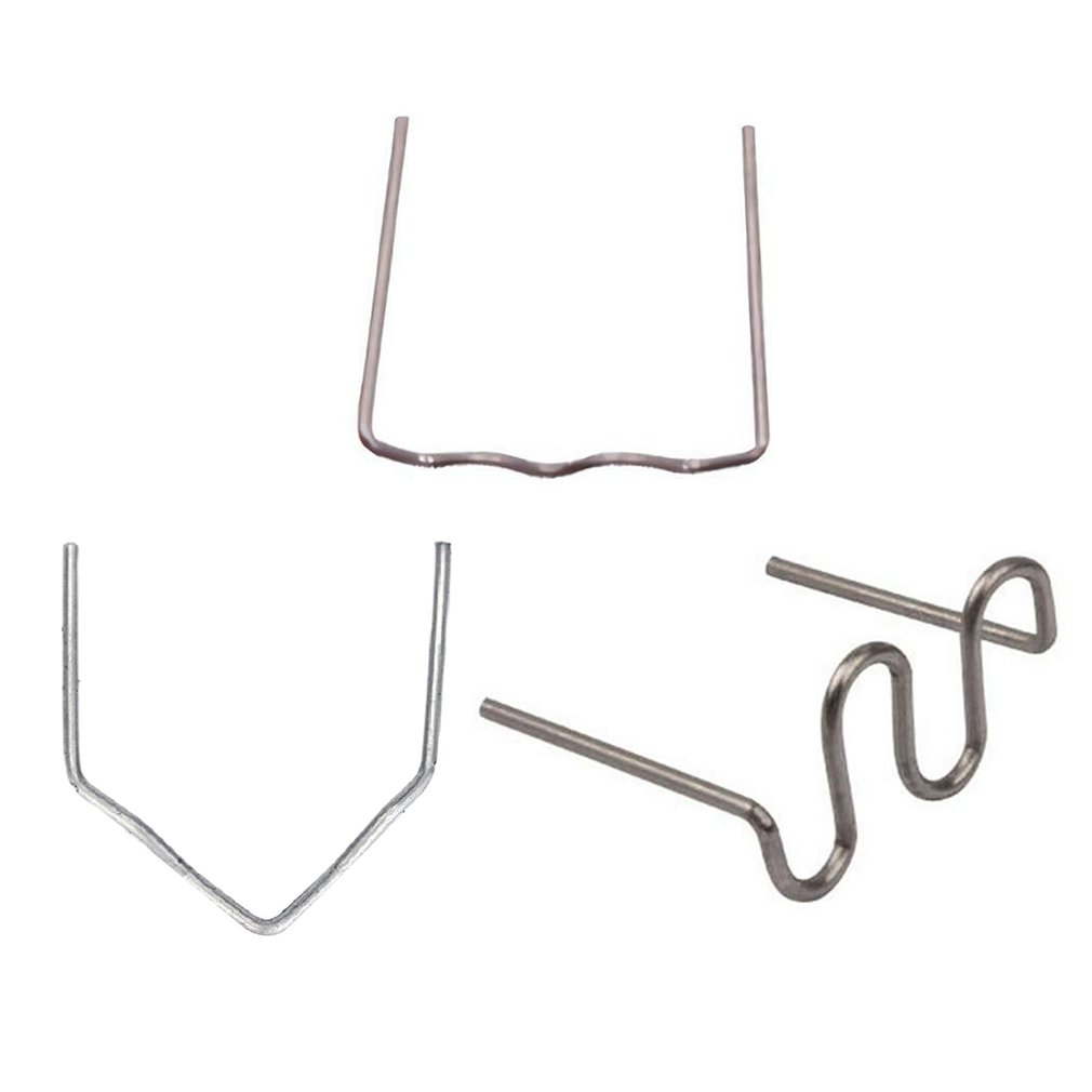 100pcs Automobile Plastic Bumper Welding Machine Repair Nails 0.8mm Stainless Steel Durable Repair Nails Machine Hot Melt Weldin