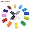 200 stücke 2x4 Dot DIY Bausteine Dicken Zahlen Bricks Pädagogisches Kreative Größe Kompatibel Mit 3002 Kunststoff Spielzeug für Kinder