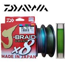 2018 חדש DAIWA J BRAID גרנד X8 קלועה דיג קו PE כהה ירוק ירקרק ירוק רב צבע תוצרת יפן