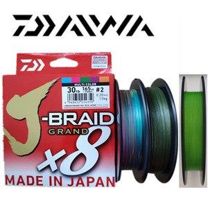 Image 1 - 2018 جديد دايوا J BRAID جراند X8 مضفر خيط صنارة الصيد PE الأخضر الداكن CHARTREUSE الأخضر متعدد الألوان المحرز في اليابان