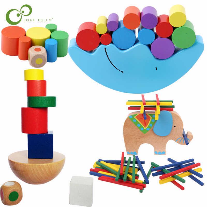 Creative Animal Tetris Puzzle Balance Game for Kids Building Blocks Educational Toys FREE Shipping