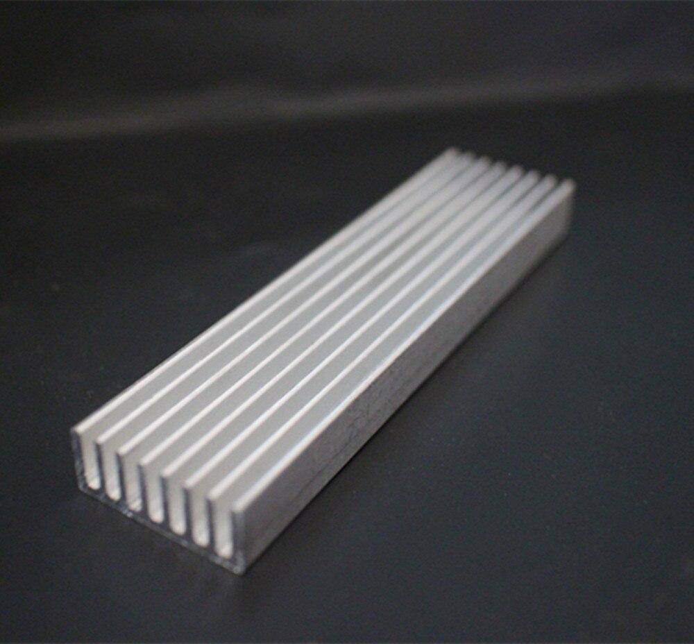 Алюминиевый излучающий ребро охлаждения радиатора 100*25*10 мм для Светодиодный Мощность транзистор электрические радиаторы чип