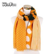 Fashion Women Scarf Luxury Brand Striped Dots Print Hijab Shawl Scarfs Foulard Head Scarves Wraps
