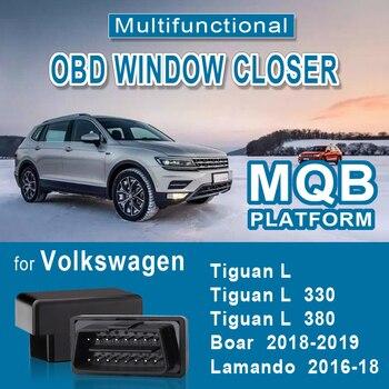OBD Window Closer Car Alarm Systems For Volkswagen Tiguan L   330 380 Lamando Boar Remote Controller Door Car Accessory