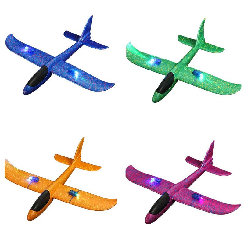 New Glowing Hand Throwing Airplane Free-flying Fix Wing Durable Epp Foam Normal Glider DIY Plane Model Educational Toy For Kids image