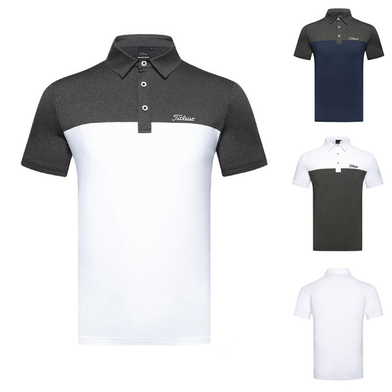 Golf clothing men's T-shirt short sleeve outdoor sports quick drying breathable Polo Shirt golf wear Top