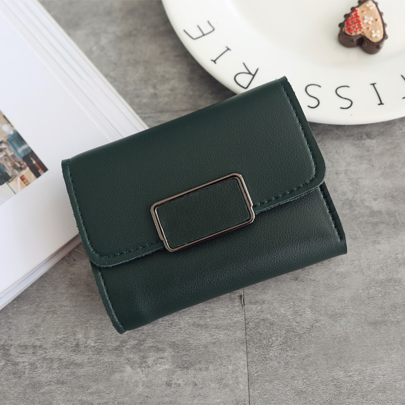 Женские кошельки, Маленький модный брендовый кожаный кошелек для женщин, женская сумка для карт, клатч, Женский кошелек, кошелек с зажимом для денег - Цвет: Square-Green