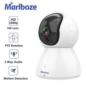 Image 1 - Marlboze 1080 1080p無線lan屋外ipカメラyooseeアプリ制御2MP hd wifi銃弾カメラ黒双方向オーディオセキュリティcctvカメラ