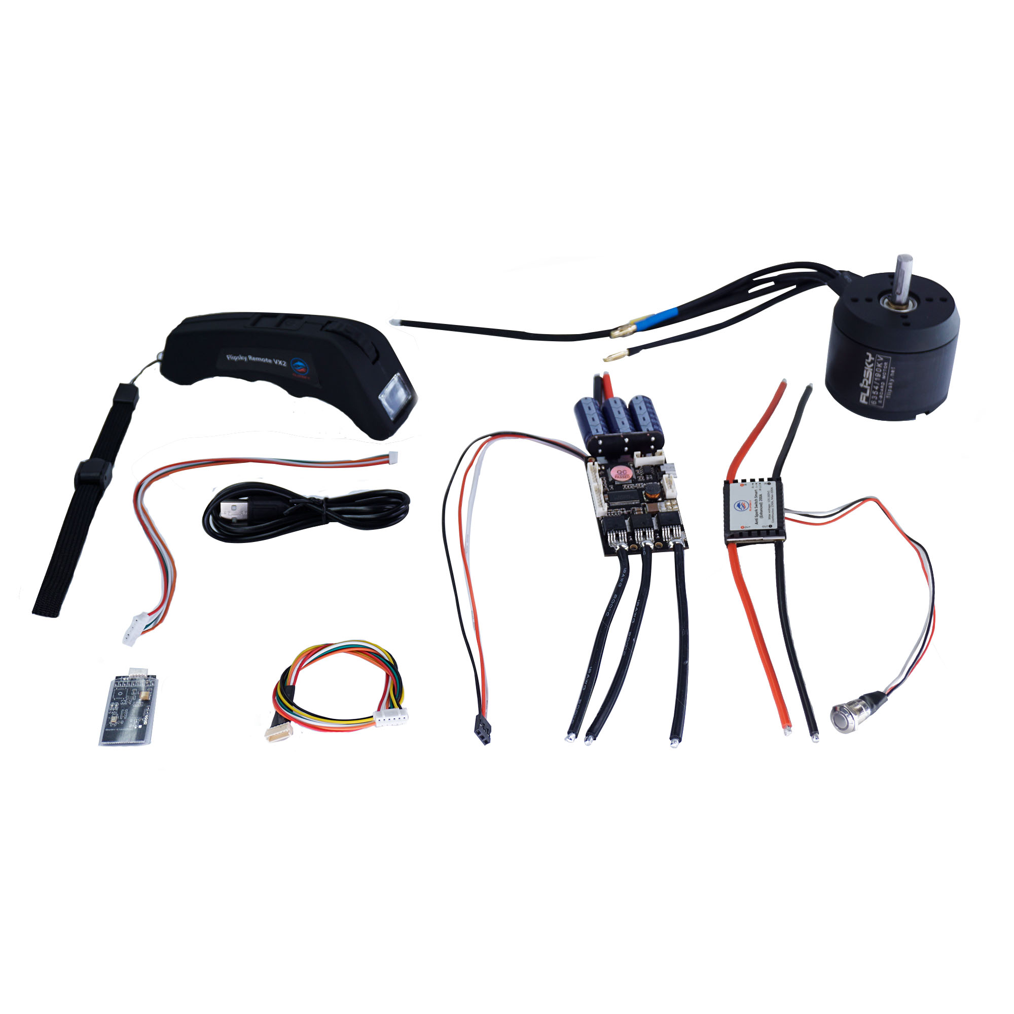 DIY Combo For Electric Skate Board 190KV 6354 Motor + Screen Remote Controller + Smart Switch Electric Speed Controller  S10