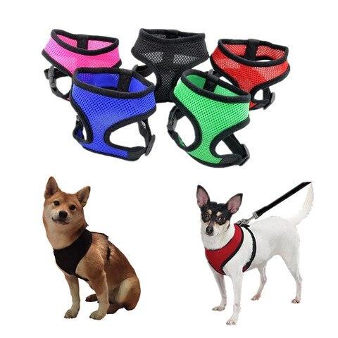 Купить 1 шт регулируемая мягкий дышащий собаки жгут нейлоновая сетка