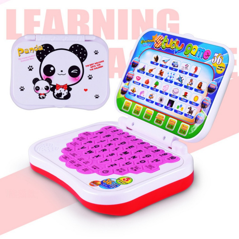 Baby Kid <font><b>Toy</b></font> Computer <font><b>Laptop</b></font> Tablet Children Educational Learning Machine <font><b>Toys</b></font> Electronic Kids Study Game Random Color 1pc image