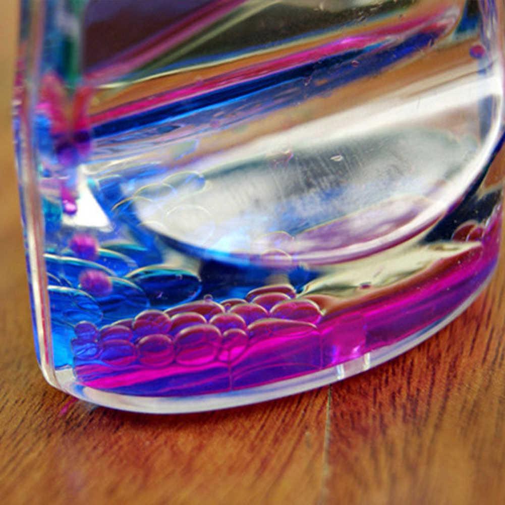 Double couleurs jolie taille huile sablier liquide flottant mouvement bulles minuterie décors de bureau sablier