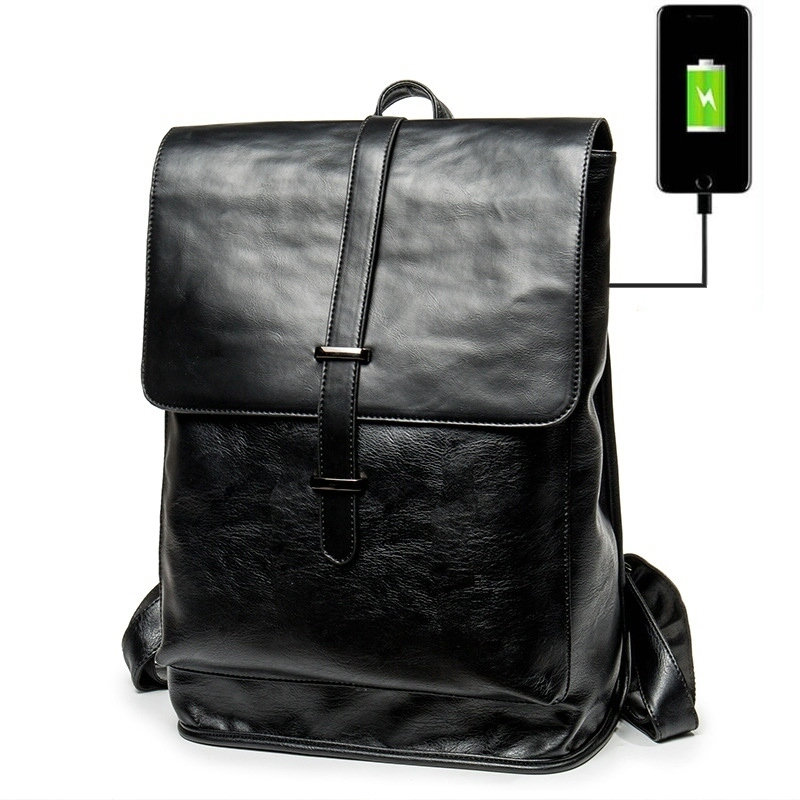 Leather Men Chest Bag Casual Waterproof Mens Bag Fashion Travel Bags for Teenage Outdoor Sports Shoulder Messenger Bags,Black,Xs