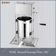 TV10L/TV15L manual sausage stuffer vertical portable stainless steel hand filler filling machine