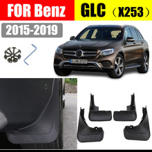 Mud flaps For Benz GLC Class  X253 Mudguards Fender flap splash Guard Fenders Car accessories auto styline Front Rear 4 pcs
